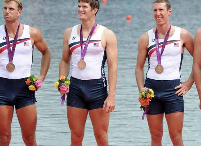 Henrik Rummel with erection at Olympic Ceremony (Image: YouTube)