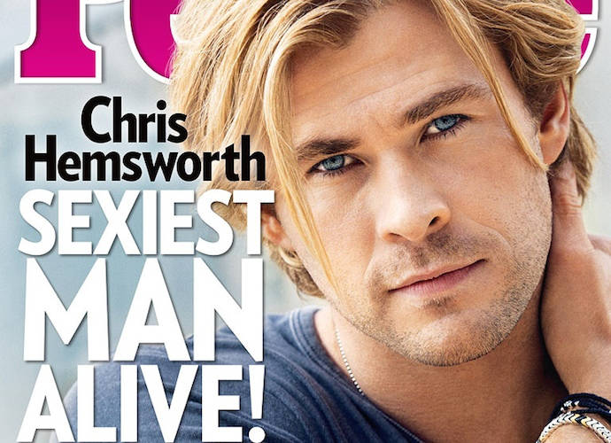Chris Hemsworth Is Named 'People's Sexiest Man Alive