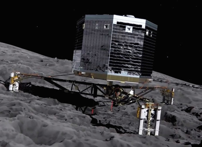After Philae Successfully Lands On Comet 67P, Its Harpoons Fail To Deploy