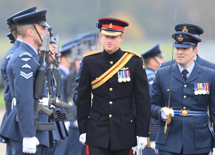 Prince Harry Visits RAF Base, Delivers Moving Speech