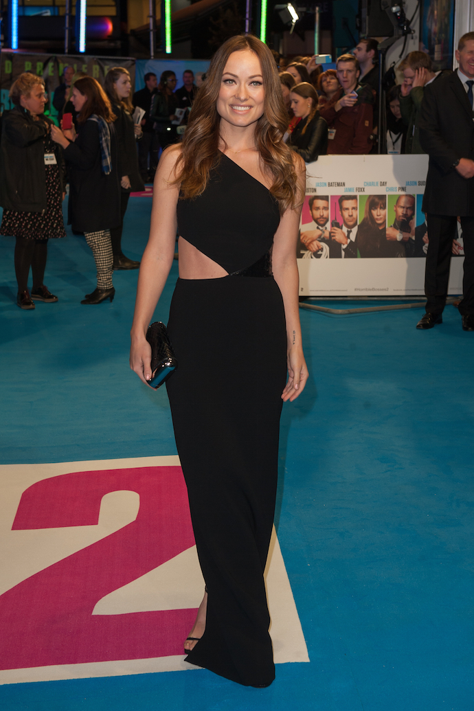 LOOK OF THE DAY: Olivia Wilde Stuns In Cut-Out Black Gown At 'Horrible Bosses' Premiere