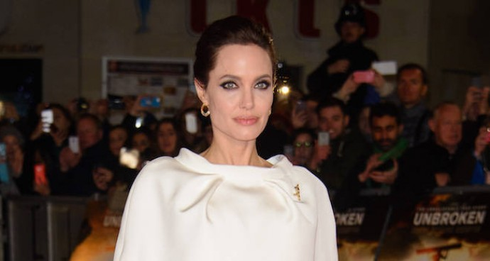 LOOK OF THE DAY: Angelina Jolie Stuns In White At 'Unbroken's UK Premiere