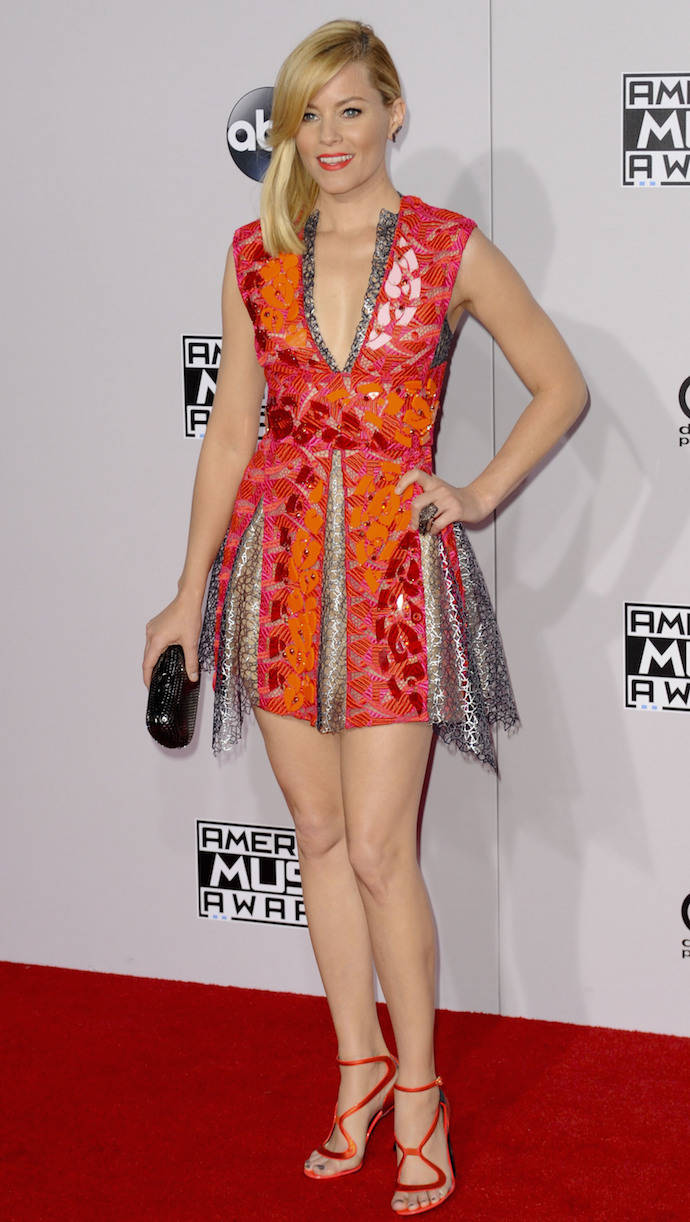 Elizabeth Banks Presented At The 2014 American Music Awards In Style