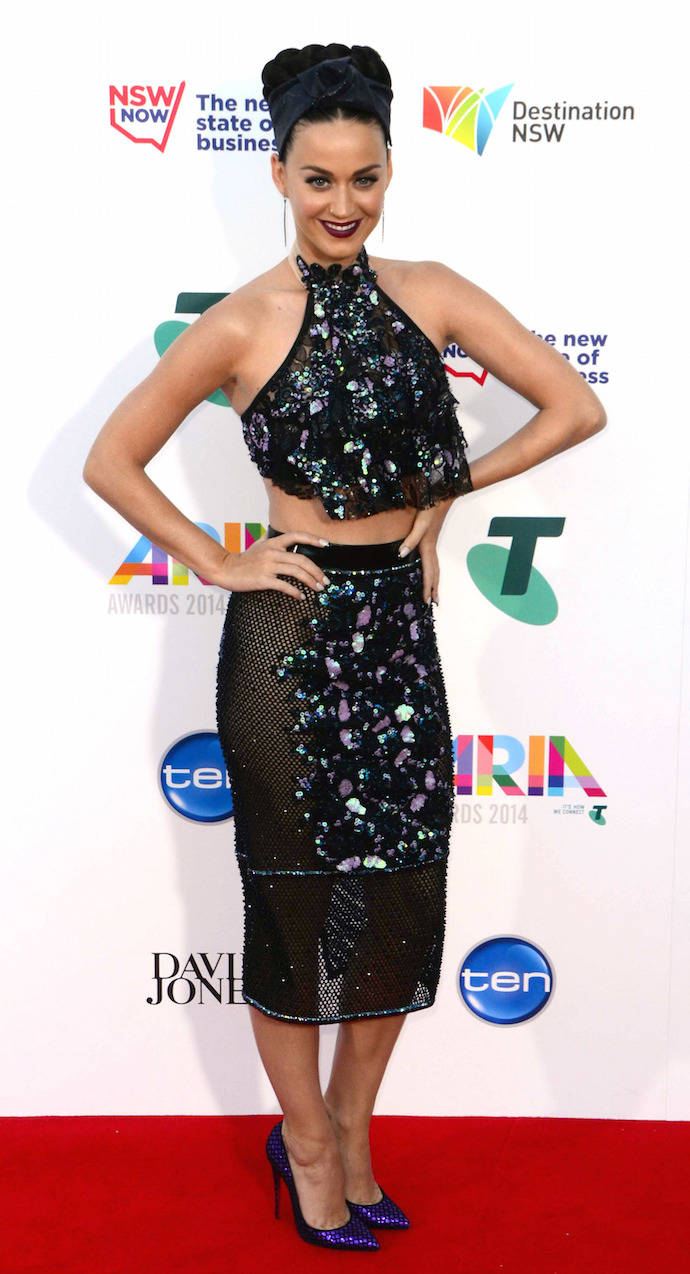 LOOK OF THE DAY: Katy Perry Dazzles At ARIA Awards