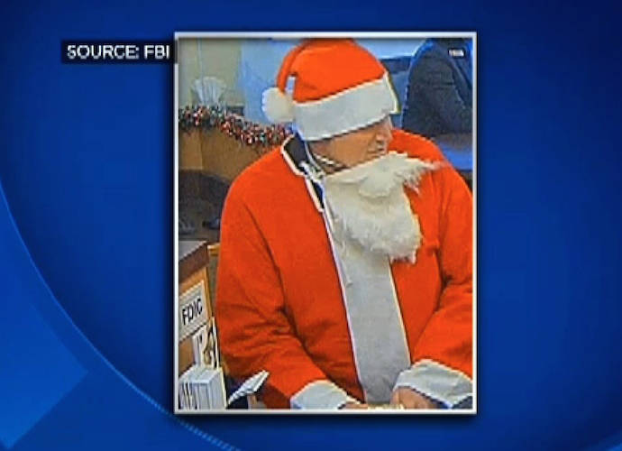 Santa Claus Robs Bank During San Francisco SantaCon