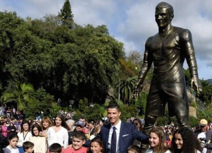 Cristiano Ronaldo's Bulge Dominates New Statue Of Soccer Player