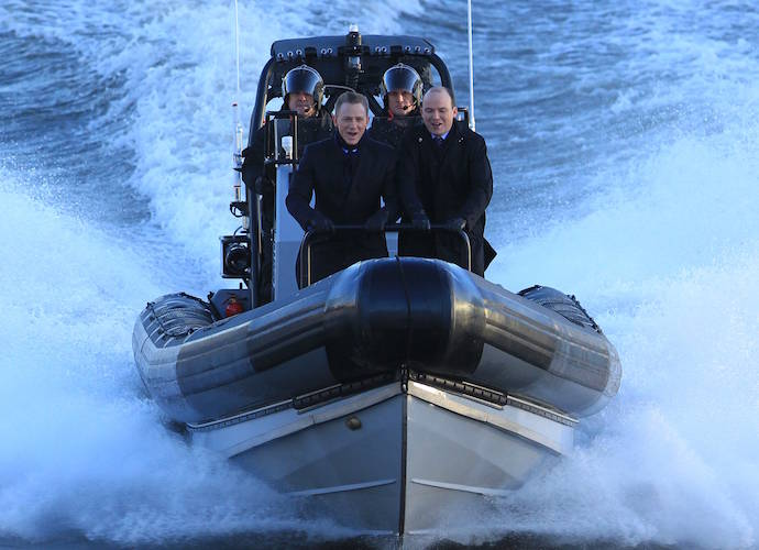 Daniel Craig Films Scene For 'Spectre' With Rory Kinnear