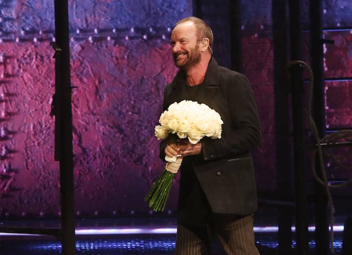 Sting Receives Standing Ovation At His 'The Last Ship' Debut