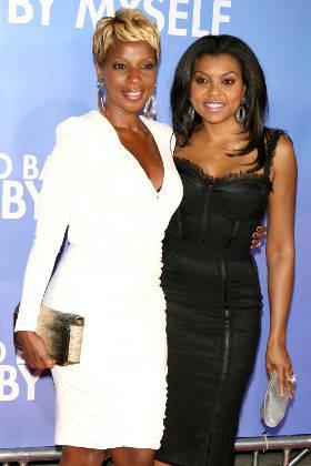 Taraji P. Henson with Mary J. Blige