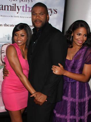 Taraji P. Henson with Tyler Perry and Sanaa Lathan