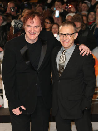 Christoph Waltz with Quentin Tarantino on the red carpet