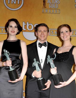 Allen Leech with his 2013 Screen Actors Guild Award