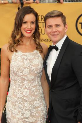 Allen Leech with Girlfriend Charlie Webster at 2015 Screen Actor Guild Awards