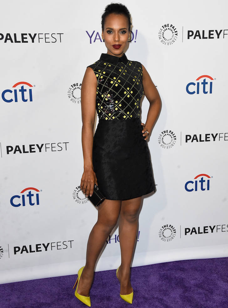 096d98bfe2 Kerry Washington Looked Chic In Black And Yellow Dress At PaleyFest ...