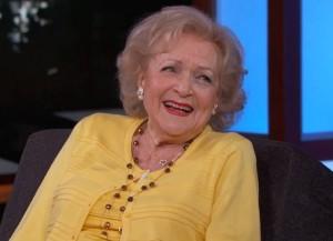 Betty White on 'Jimmy Kimmel Live' (Photo courtesy ABC)