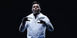 AUCKLAND, NEW ZEALAND - APRIL 17: Ricky Martin performs live for fans at Vector Arena on April 17, 2015 in Auckland, New Zealand.