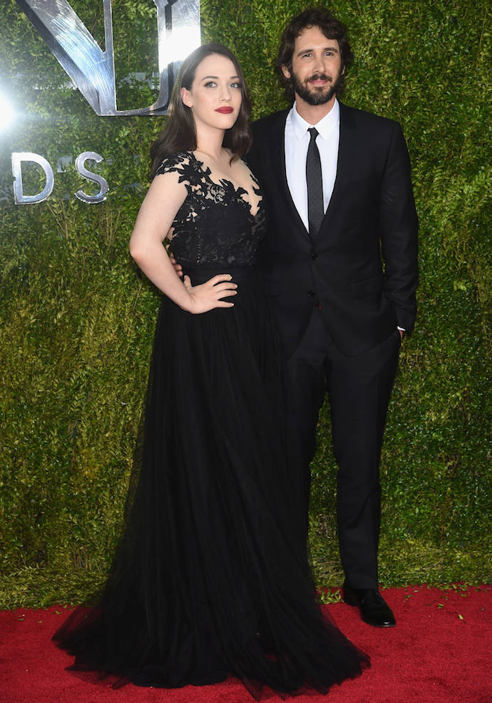 Kat Dennings And Josh Groban Attend The 2015 Tony Awards