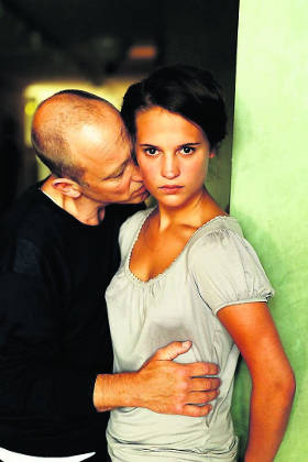 Alicia Vikander and Samuel Fröler in 'Pure'