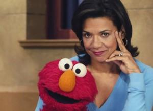 Sonia Manzano and Elmo (Image: Sesame Street)