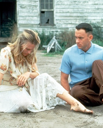 Robin Wright and Tom Hanks in 'Forrest Gump'