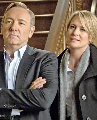 Robin Wright and Kevin Spacey in 'House of Cards'