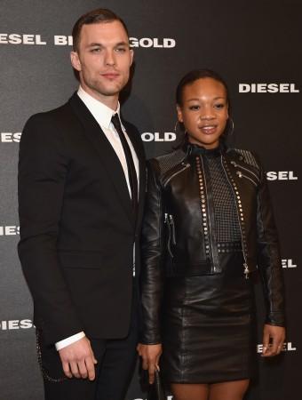 Ed Skrein Attends Diesel Fashion Show With Girlfriend