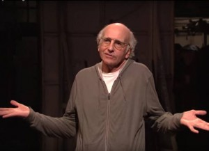 Larry David as Bernie Sanders (Image: SNL)