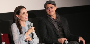Angelina Jolie and Brad Pitt attend a screening of 'By the Sea' (Photo by Robin Marchant/Getty Images for Academy of Motion Picture Arts and Sciences)
