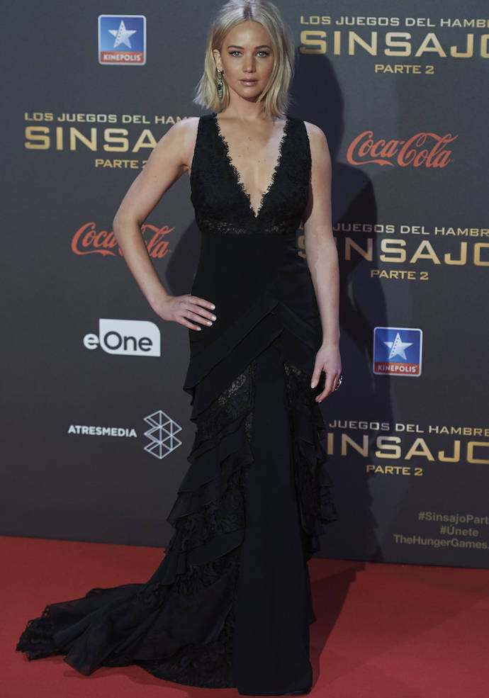 dc6d6334e Jennifer Lawrence Stuns At  Hunger Games  Mockingjay – Part 2  Premiere In  Madrid. Full view. Jennifer Lawrence in ...