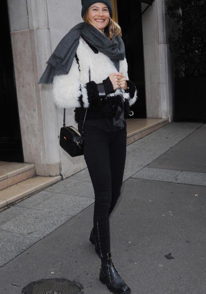 Behati Prinsloo Showed Off Her Street Style In Paris