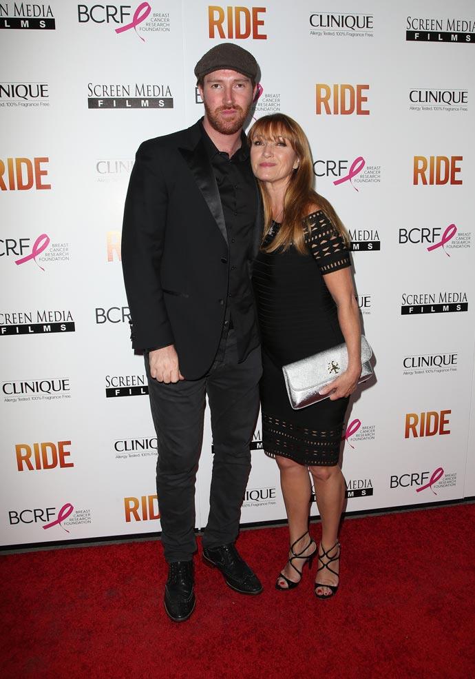 Jane Seymour and son Sean Flynn