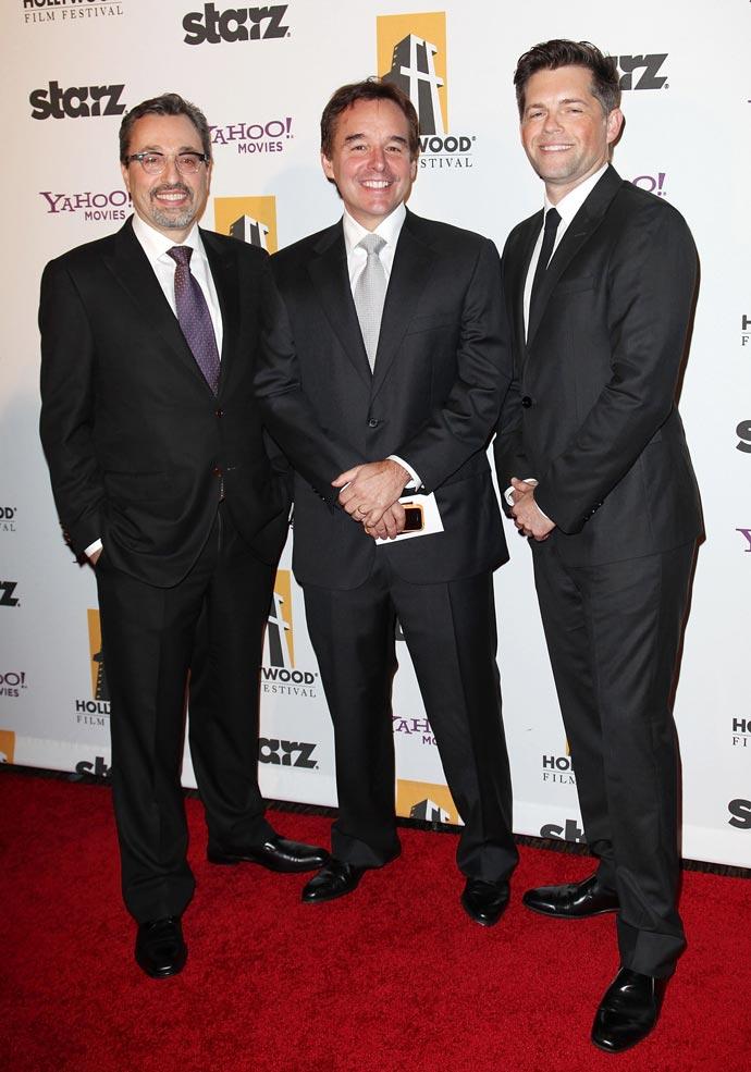 Producers Michael Barnathan, Chris Columbus, and Brunson Green