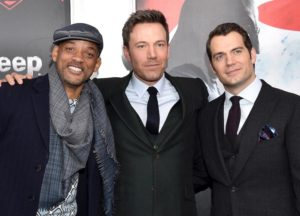 Will Smith, Ben Affleck and Henry Cavill at the Batman v Superman: Dawn of Justice premiere