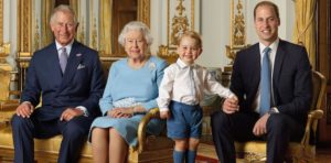 Prince Charles, Queen Elizabeth, Prince George, Prince William (Image: Instagram)