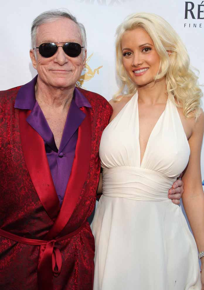 Holly Madison with Hugh Heffner at the 3rd Annual Celebrity Poker Tournament and Casino Night at the Playboy Mansion