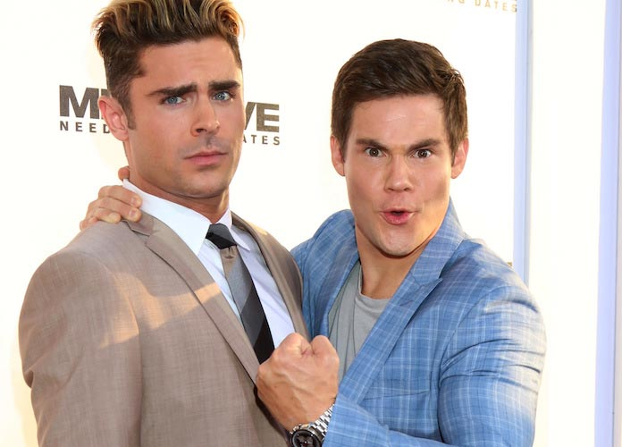 Mike And Dave Need Wedding Dates Online.Zac Efron And Adam Devine Have A Blast At Mike And Dave