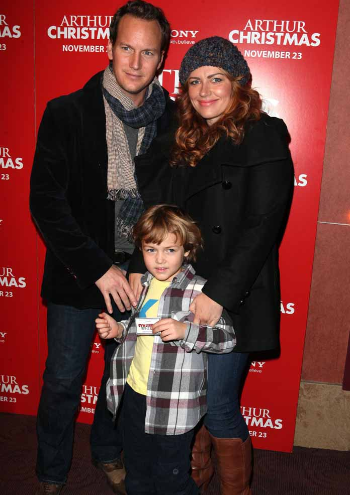 At the Premiere of Arthur Christmas