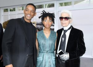 Will Smith, Willow Smith, & Karl Lagerfeld