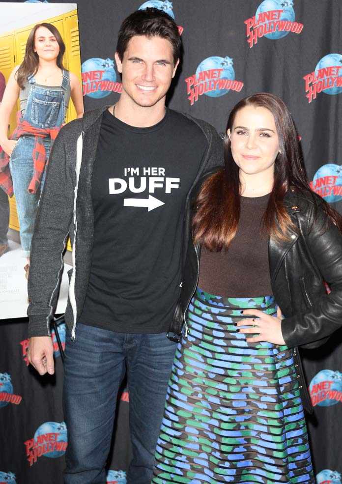 Robbie Amell And Co-Star Mae Whitman At 'The Duff' Premiere