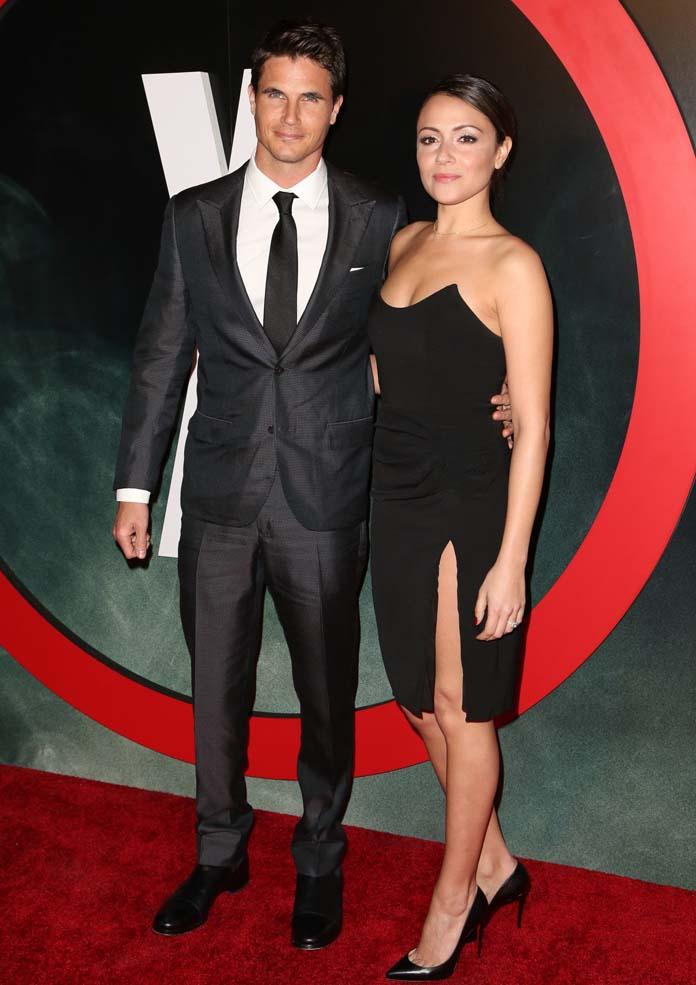 Robbie Amell and Italia Ricci at 'X-Files' Season Premiere