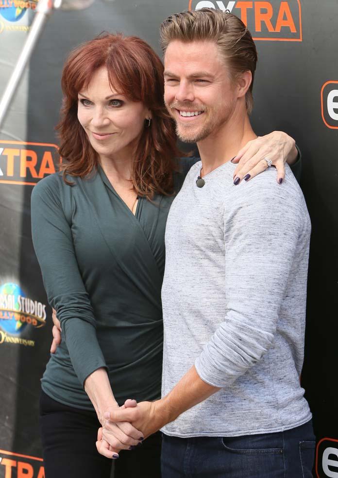 Derek Hough and Marilu Henner on 'Extra'