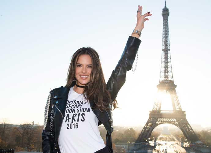 4d3928ec926 Alessandra Ambrosio Jokes Around At Eiffel Tower Before 2016 Victoria s  Secret Fashion Show