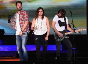 CHICAGO, IL - JUNE 17: Charles Kelley, Hillary Scott and Dave Haywood - Lady Antebellum headlines 2016 Windy City LakeShake Country Music Festival - Day 1 at FirstMerit Bank Pavilion at Northerly Island on June 17, 2016 in Chicago, Illinois.