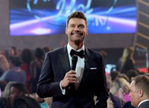 HOLLYWOOD, CA - MAY 13: Host Ryan Seacrest speaks during 'American Idol' XIV Grand Finale at Dolby Theatre on May 13, 2015 in Hollywood, California.
