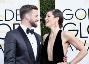 Singer/actor Justin Timberlake and actress Jessica Biel attend the 74th Annual Golden Globe Awards at The Beverly Hilton Hotel on January 8, 2017 in Beverly Hills, California. (Photo by Frazer Harrison/Getty Images)