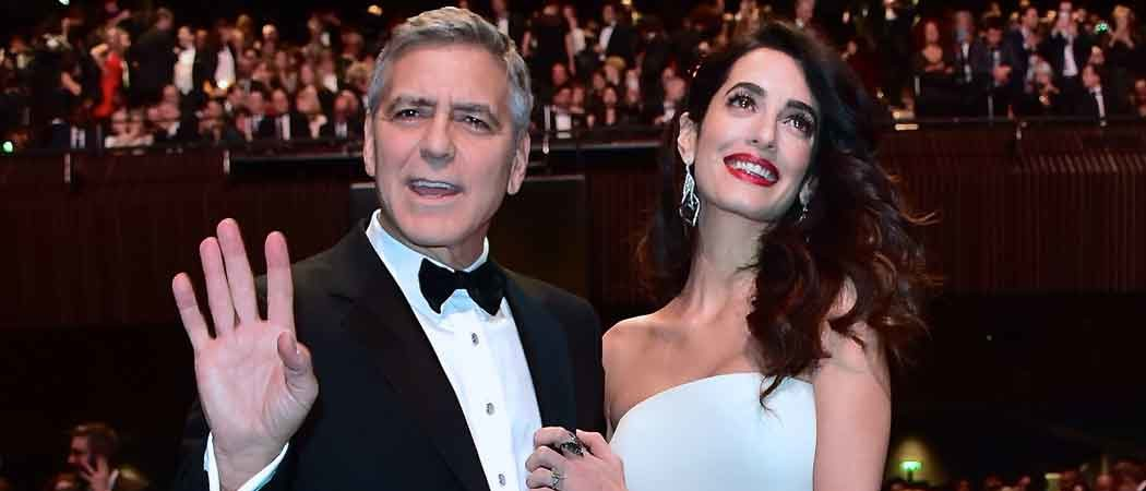 Amal Clooney Shows Off Baby Bump At Cesar Awards