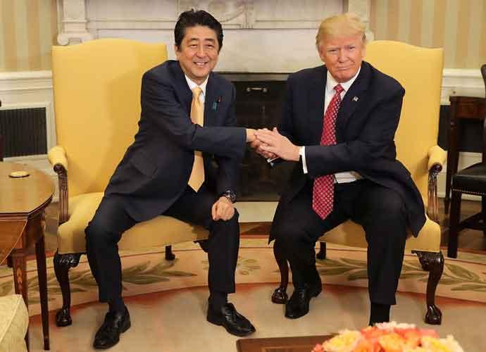 Donald Trump's Awkward Handshakes With Shinzo Abe, Justin Trudeau Inspires Memes