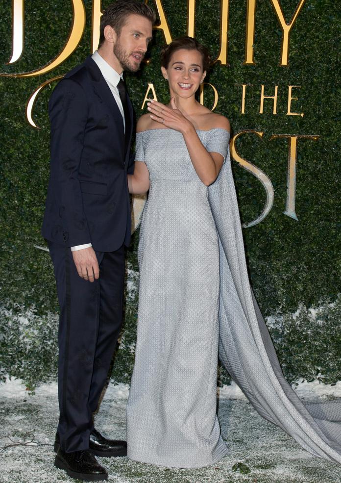 Emma Watson Wears Fairytale Dress By Emilia Wickstead At Beauty And The Beast Premiere