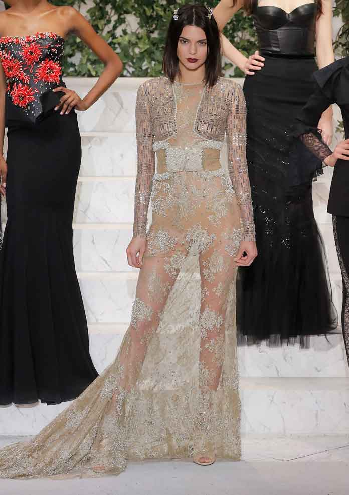 Kendall Jenner Goes Braless At La Perla NYFW Show - uInterview