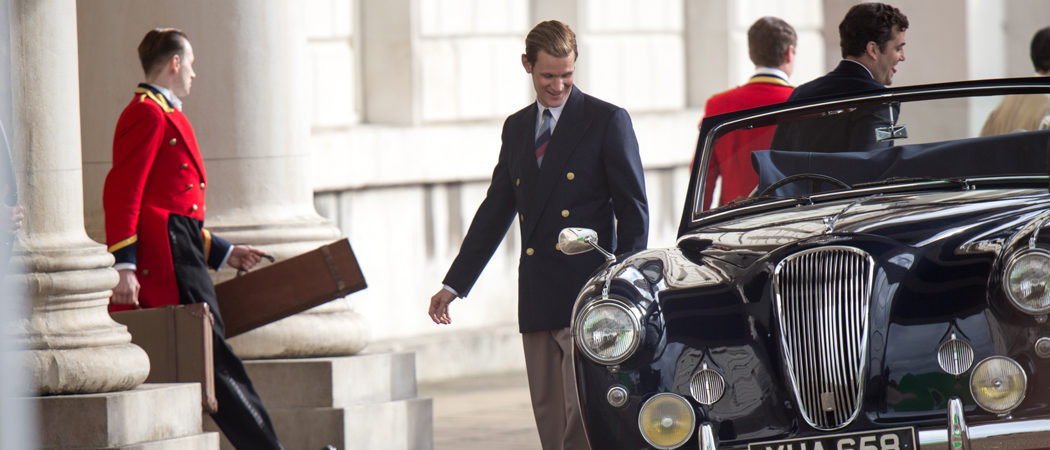 Matt Smith Looks Sharp As Prince Philip Filming 'The Crown,' As Role May Come To An End